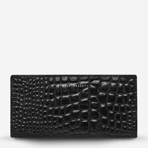 Status Anxiety // In The Beginning Wallet - Black Croc Emboss