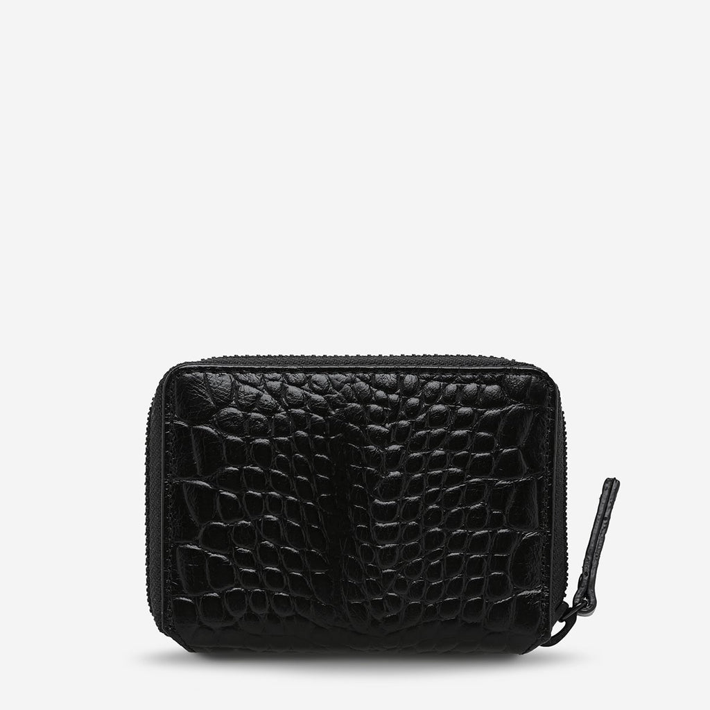 Status Anxiety // Wayward Wallet - Black Croc Emboss