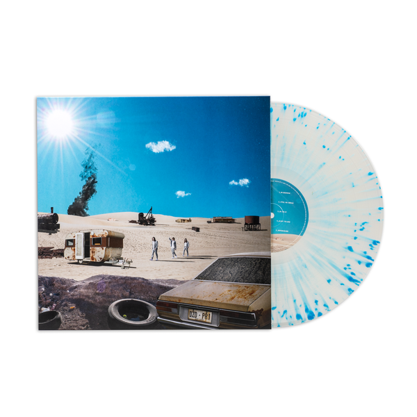 DZ DEATHRAYS - Positive Rising : Part 1 - Clear blue splattered Vinyl