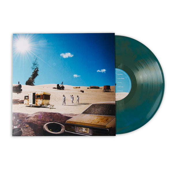 DZ DEATHRAYS - Positive Rising : Part 1 - Gold and Blue Galaxy Marble Vinyl