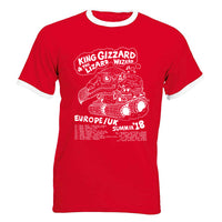 King Gizzard & The Lizard Wizard - Europe Summer tour 2018 Ringer - T-shirt