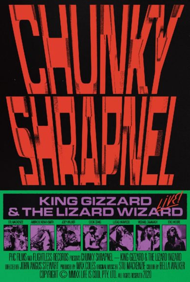 King Gizzard & The Lizard Wizard - Bráulio Amado's poster - Chunky Shrapnel - LIMITED SCREENPRINT