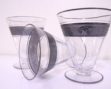 Load image into Gallery viewer, silver rim dessert cups