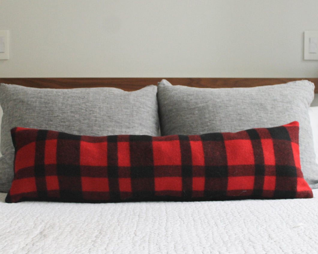 buffalo plaid lumbar pillow