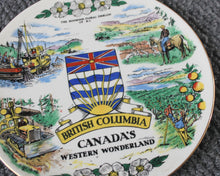 Load image into Gallery viewer, British Columbia souvenir plate