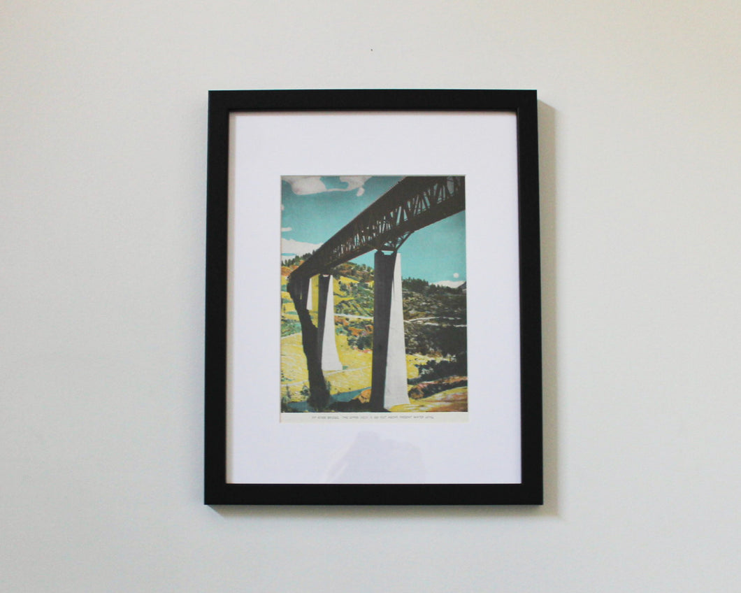 Pit River Bridge vintage print