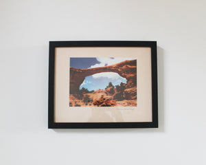 original vintage framed print of the Owanchomo Natural Bridge