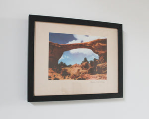 Arch Bridge vintage print in black frame