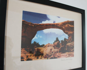 Framed photo from Arches National Park
