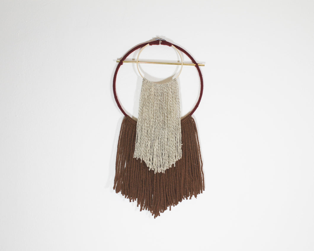 double point fiber wall hanging