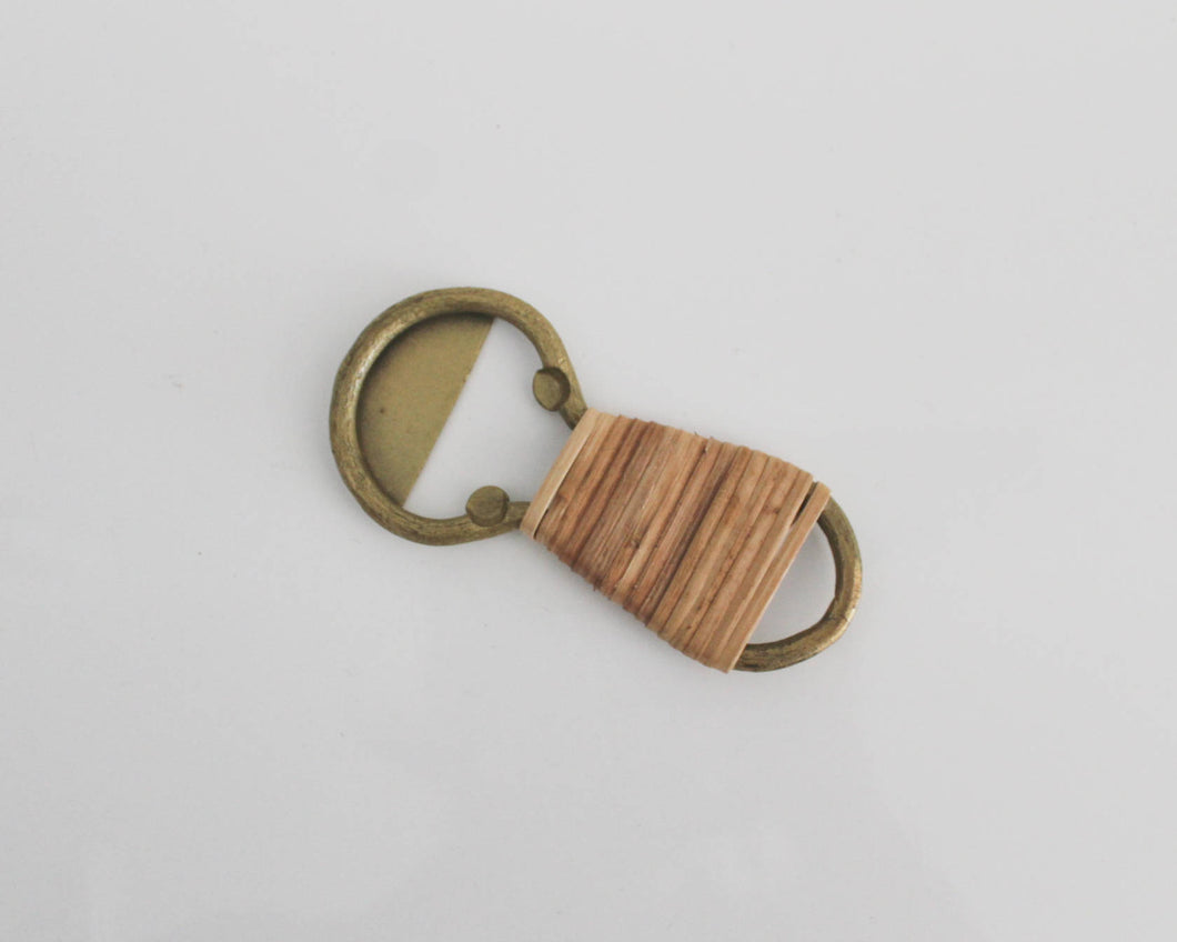 bamboo wrapped bottle opener
