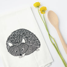 Load image into Gallery viewer, hedgehog flour sack towel