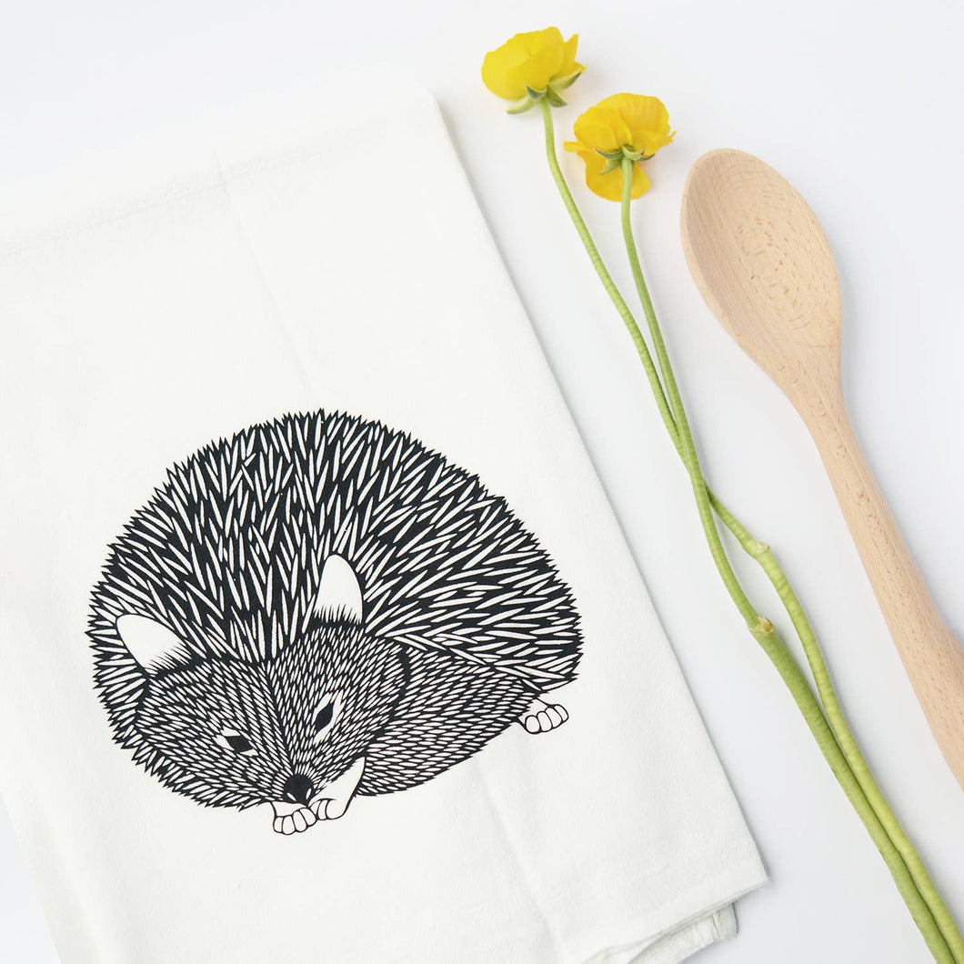hedgehog flour sack towel