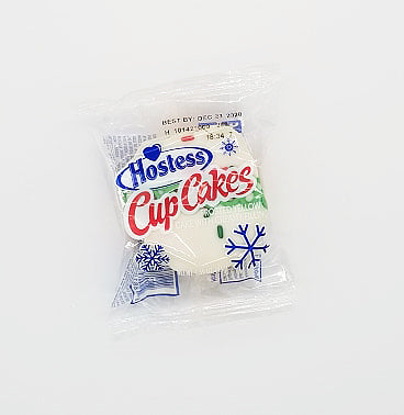 Hostess Christmas Cupcake