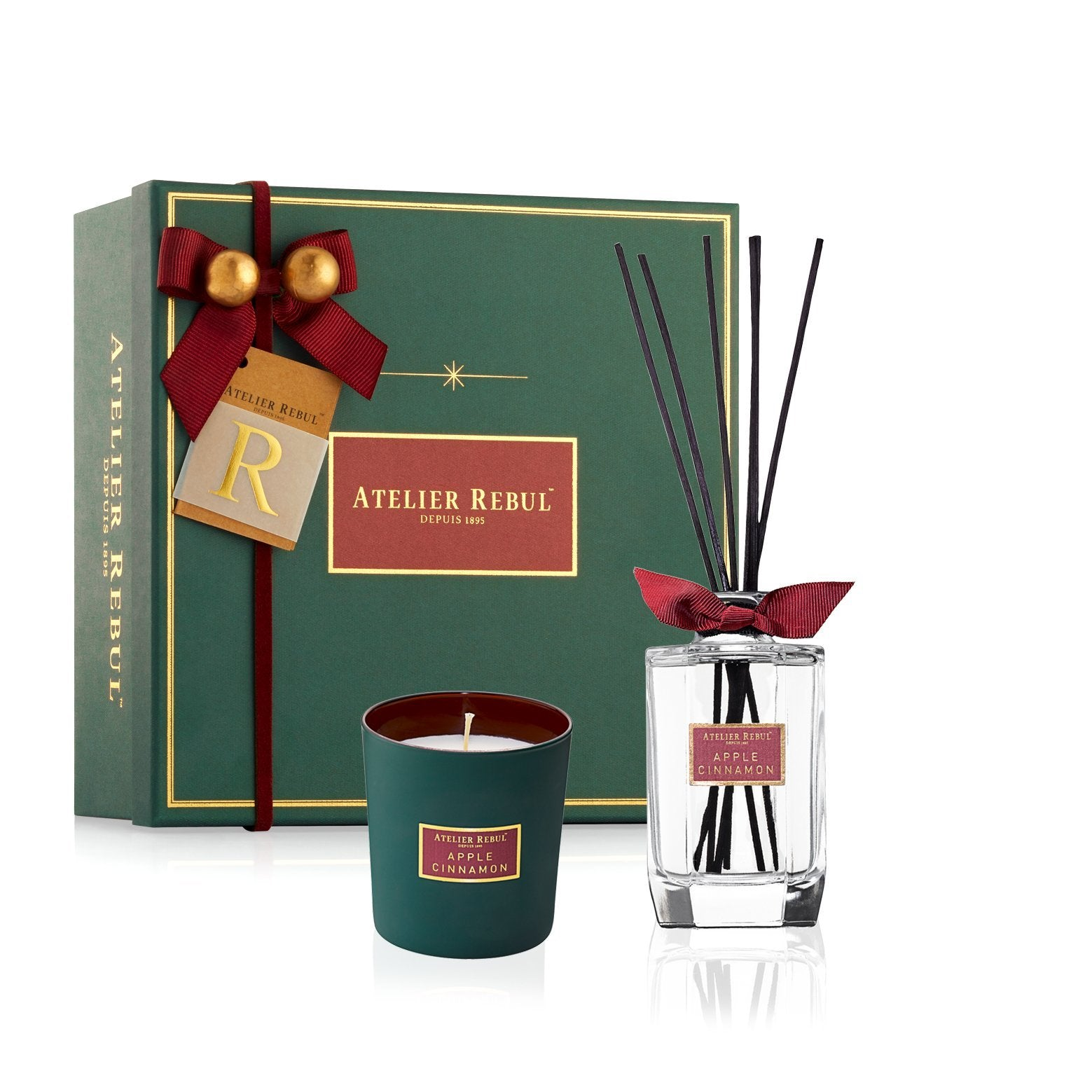 Apple Cinnamon Giftset with Fragrance Sticks & Scented Candle