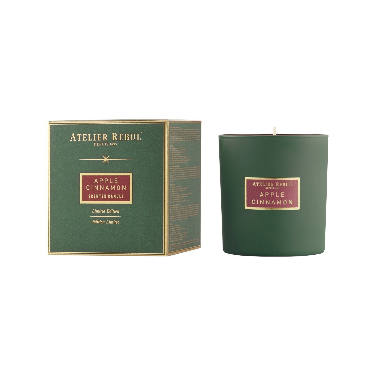 Apple Cinnamon Scented Candle 210g - Atelier Rebul