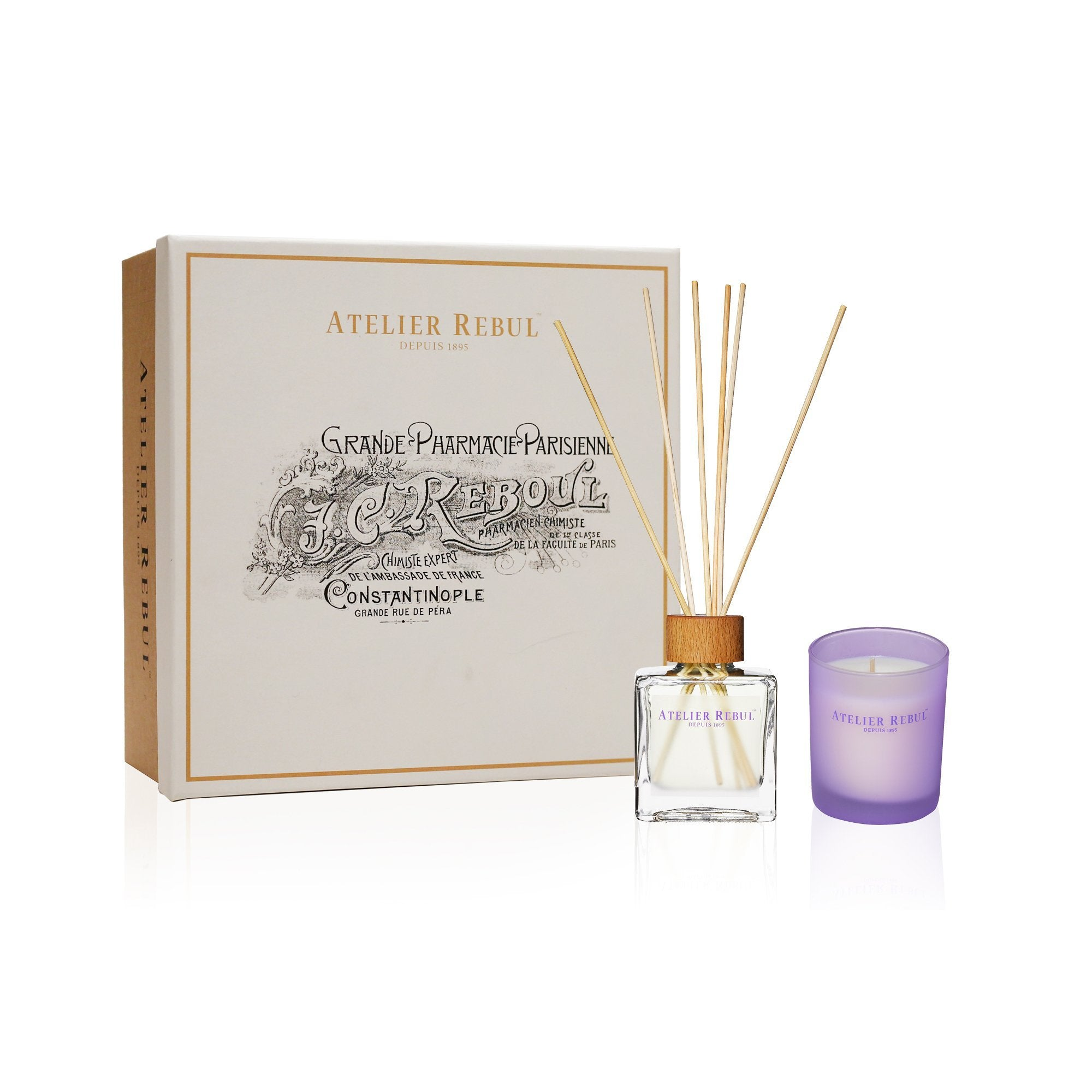 Lavender Giftset with Fragrance Sticks and Scented Candle - Atelier Rebul