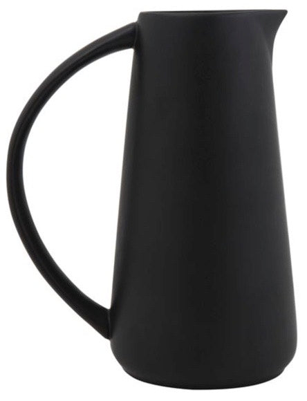 Modern Black Stoneware Pitcher
