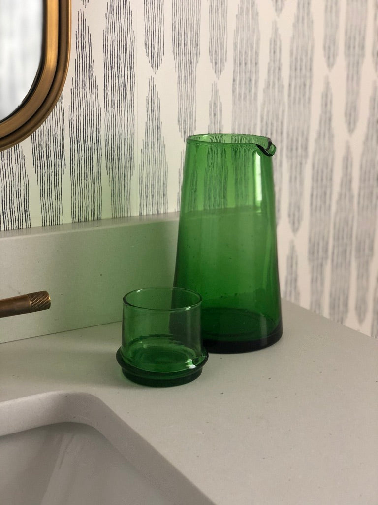Green Carafe with Glass
