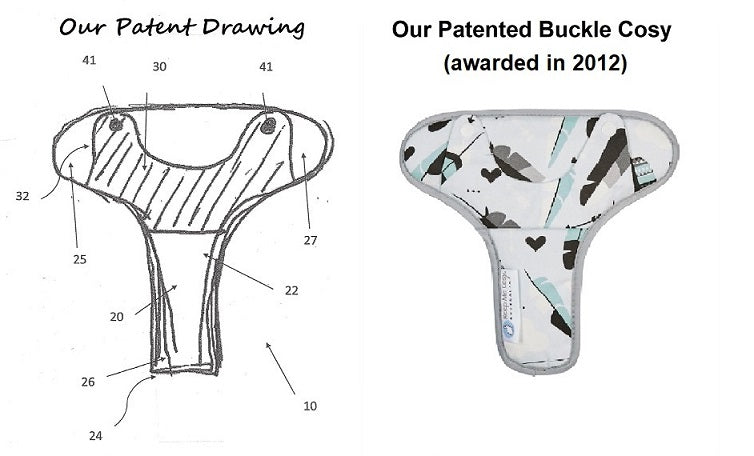 Our pram buckle cosy awarded patent in 2012