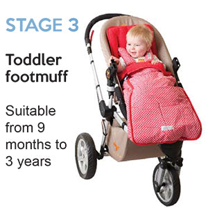 Upgrade to a toddler footmuff as baby grows