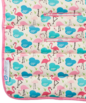 Pram Liner + Harness & Buckle Cosy - Flamingo
