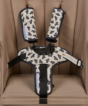 Pram Liner + Harness & Buckle Cosy - Navy Boat
