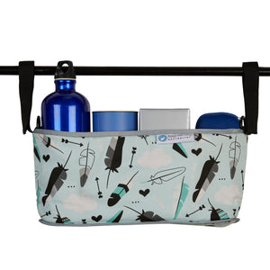Pram Organiser - Aqua Feather