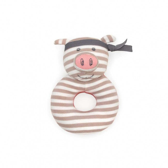 Organic Teether Rattle - Pirate Pig