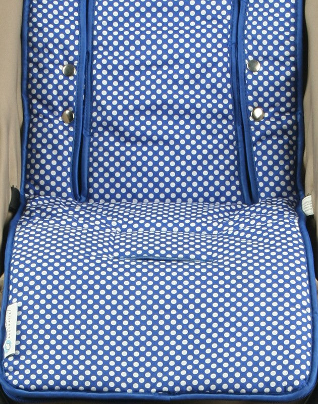 2 in 1 Infant Footmuff Set- Blue Spot