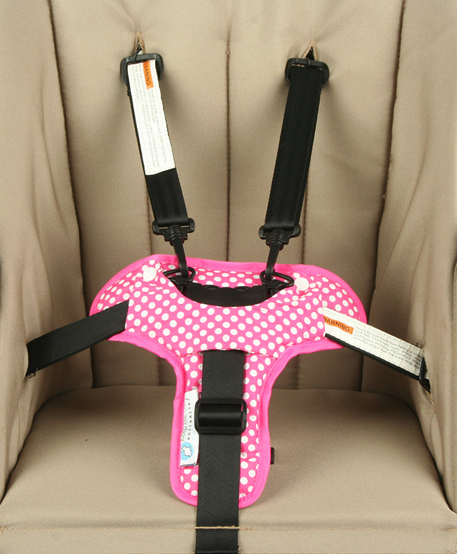 Harness & Buckle Cosy - Pink Spot