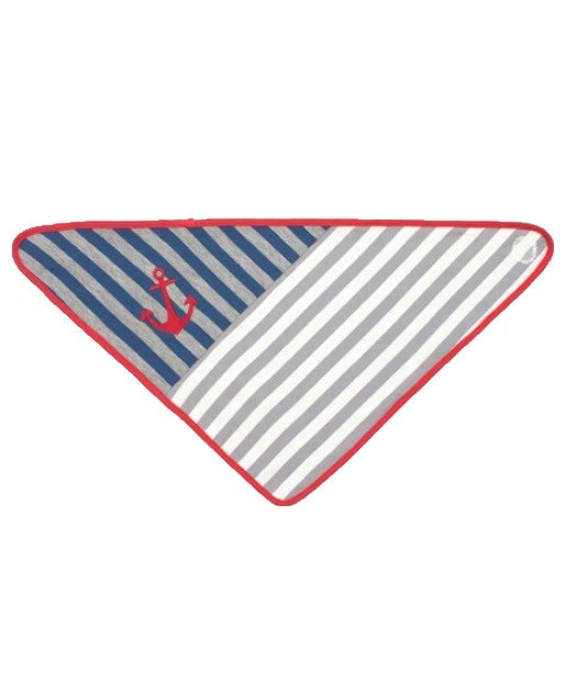 Bandana Bibs -Grey Stripe