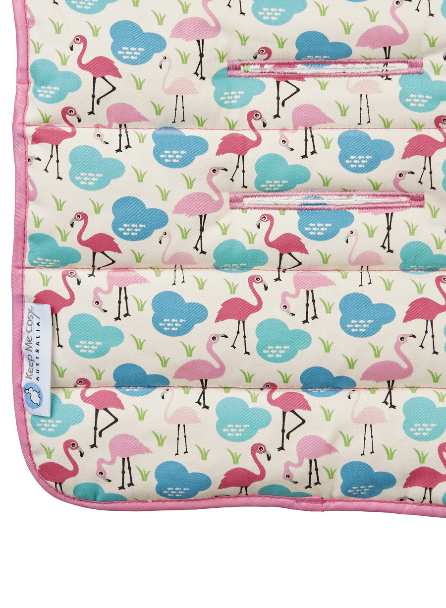 2 in 1 Toddler Footmuff Set - Flamingo