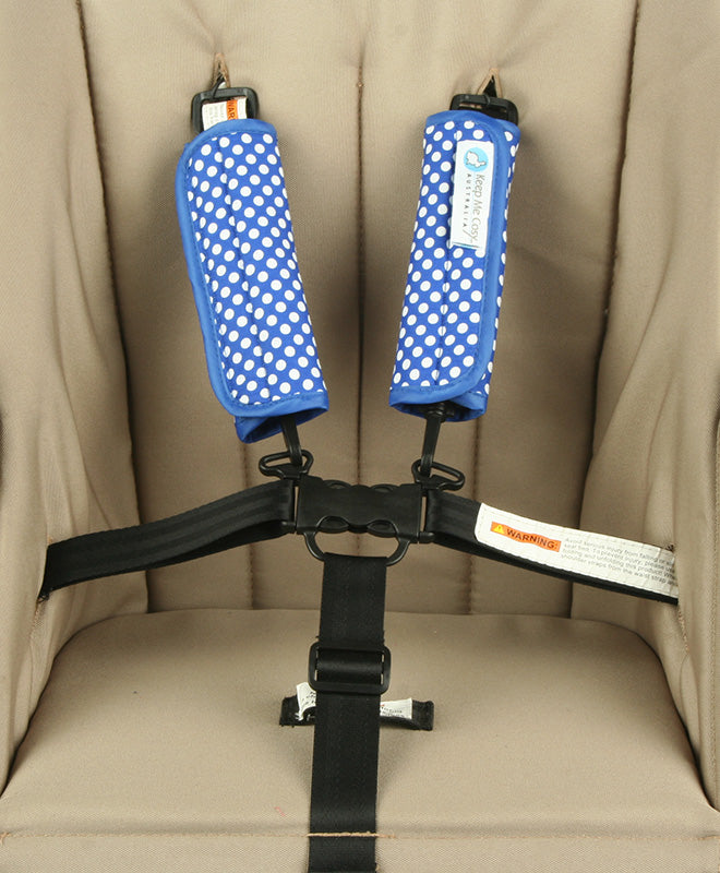 Harness & Buckle Cosy - Blue Spot