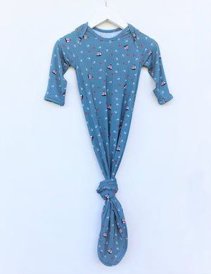 Bamboo Knotted Gown - Nautical Teal