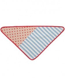 Bandana Bibs - Blue Stripe & Red Polka Dot
