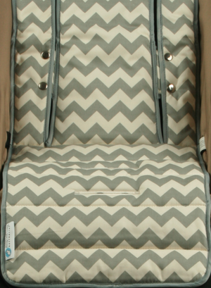 Pram Liner + Harness & Buckle Cosy - Grey Chevron