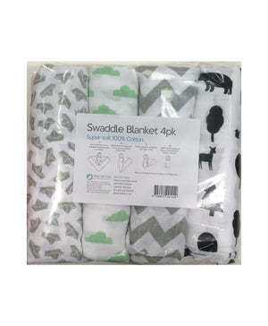 Swaddle Blanket - Pack of 4
