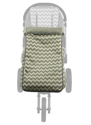 2 in 1 Toddler Footmuff Set - Grey Chevron