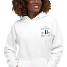 Load image into Gallery viewer, Embroidery  Resilient White Pieces Unisex Hoodie - Pace-Of-One