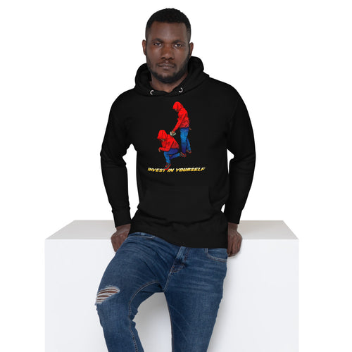 Invest in yourself (Male version) Unisex Hoodie - Pace-Of-One