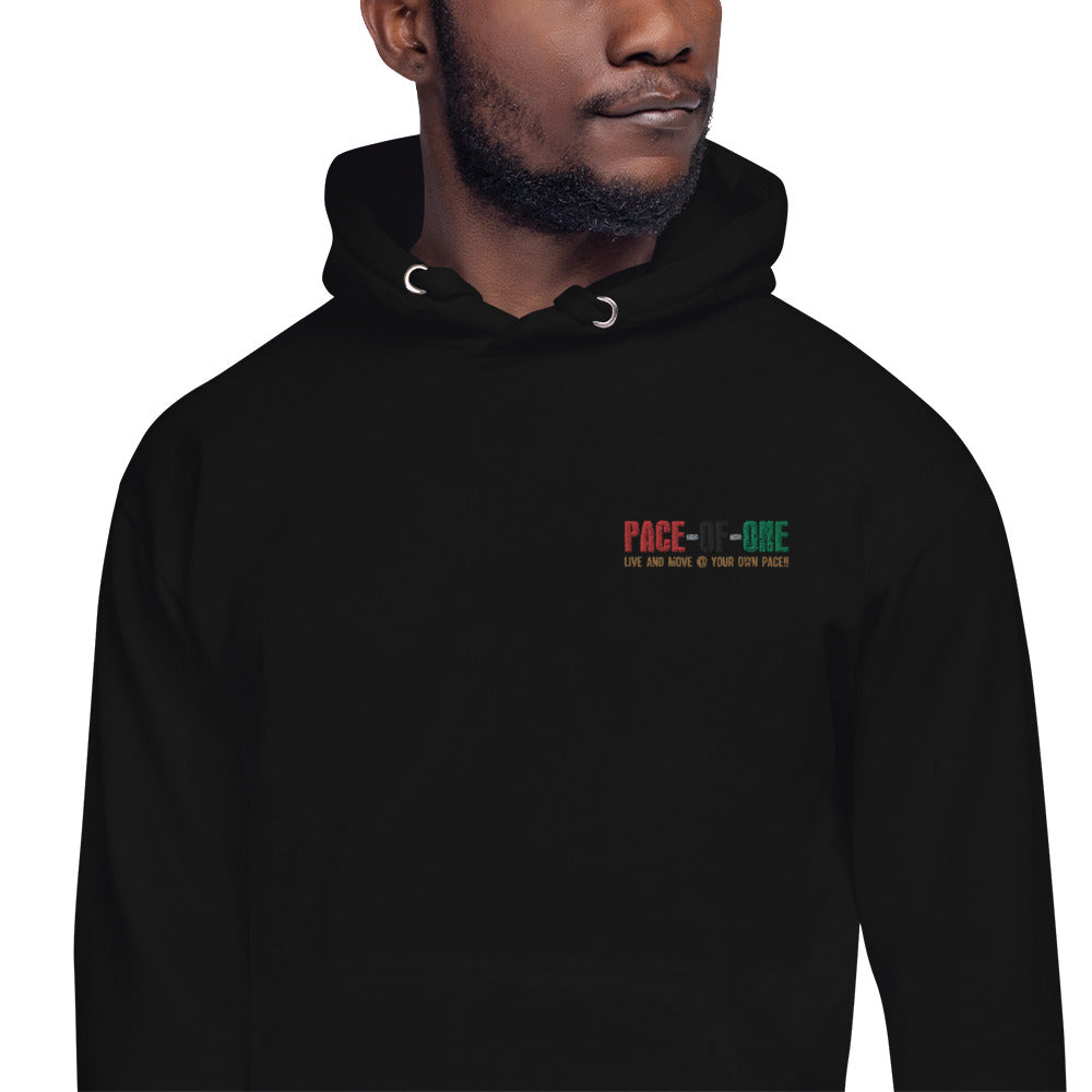 Embroidery Pace-Of-One Unisex Hoodie - Pace-Of-One