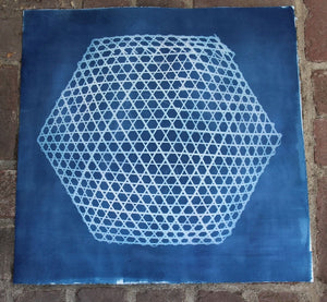 Hexagon Cyanotype