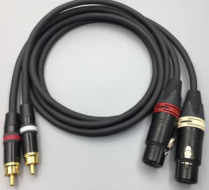 Gotham Audio-Neutrik-Rean 10421 GAC-2 V1 Unbalanced  XLR Female-RCA Cable