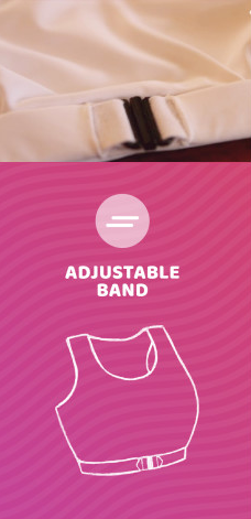 Adjustable band: Bust A Move Bras
