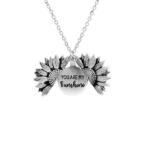 Vintage Sunflower You Are My Sunshine Necklace - JosephOluf