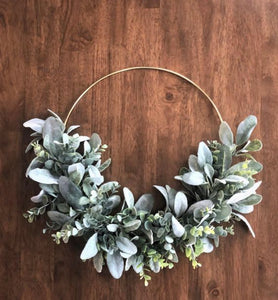 Modern Boho Gold Hoop Wreath