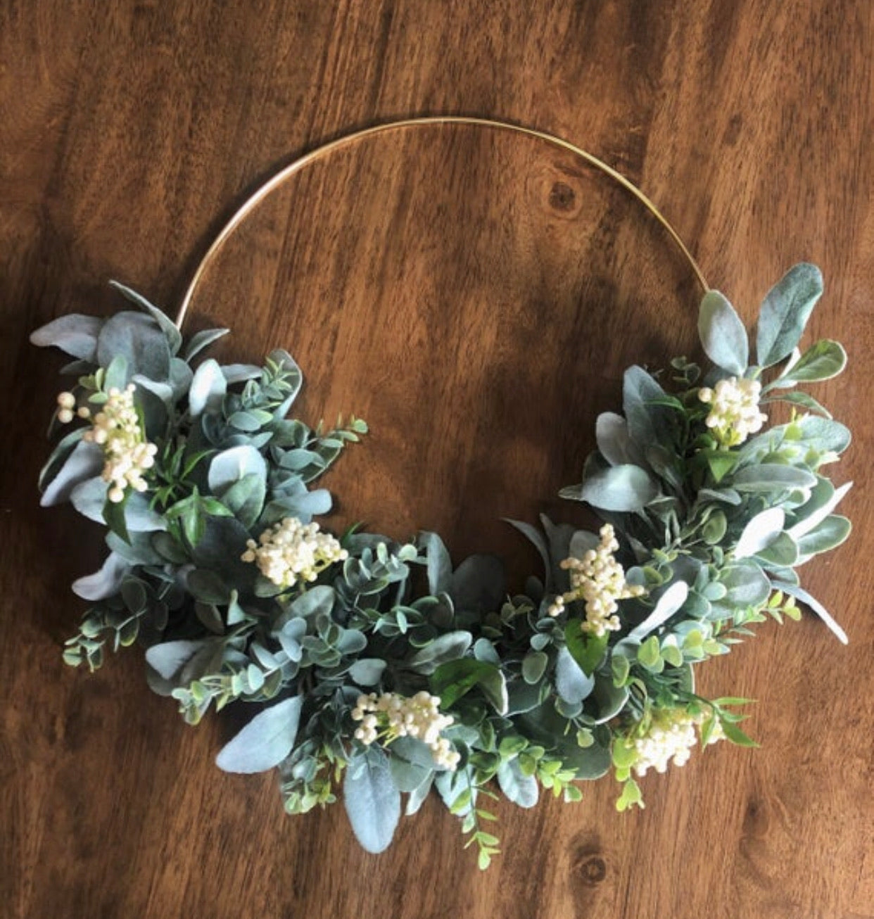 Minimalist Boho Cream Berry Wreath