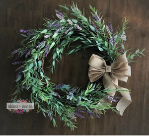 Lavender and Greenery Wreath