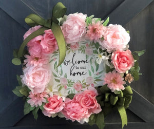 Pink Peony Wreath Farmhouse Wreath